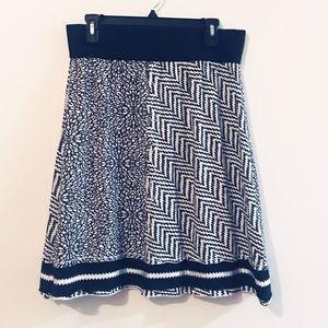 prAna Black and White A-Line Skirt